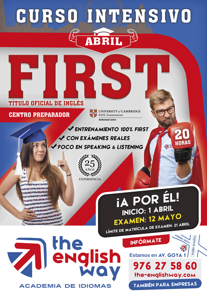 Curso intensivo First en Zaragoza en abril
