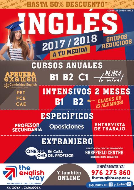 Cursos de Inglés Zaragoza 2017-2018