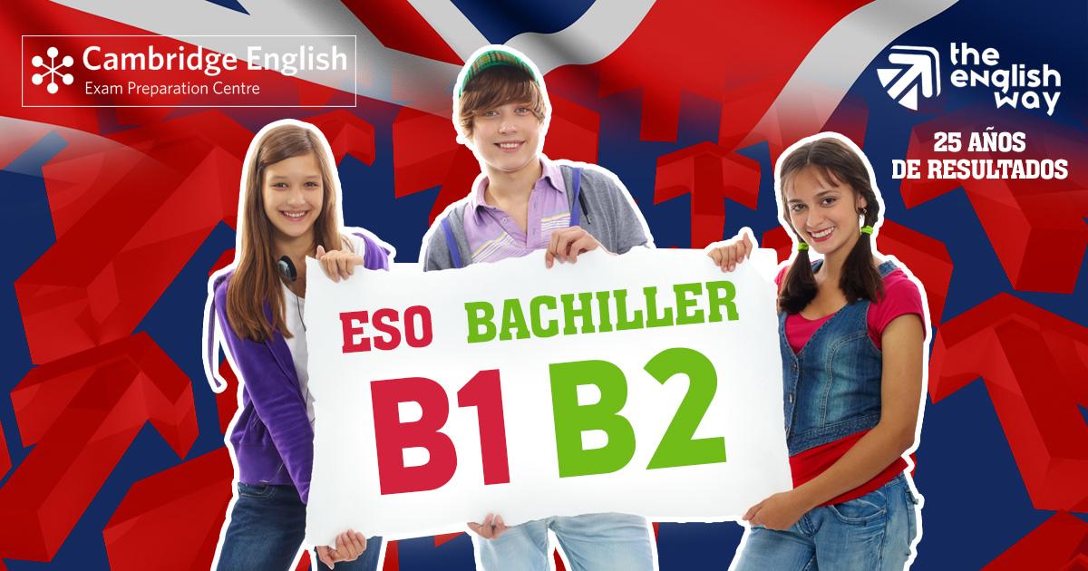 Inglés para Secundaria y Bachillerato (B1, B2) en Zaragoza