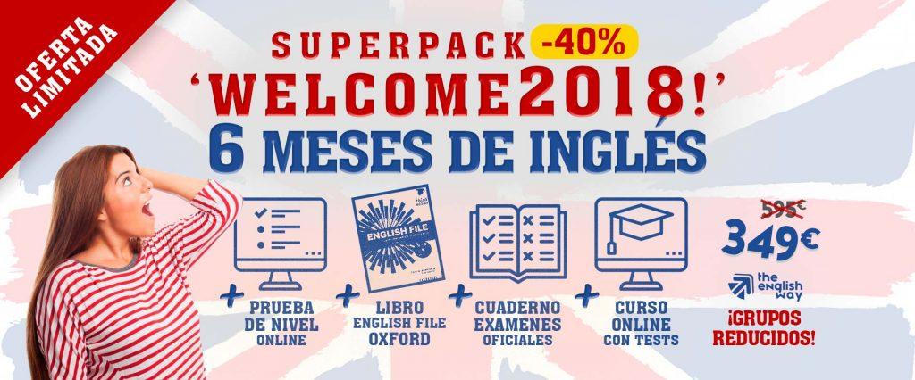 Oferta Enero Inglés en Zaragoza (Pack Welcome 2018)