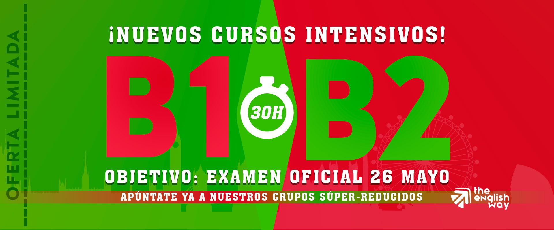 Oferta curso inglés B1 y B2 intensivo en Zaragoza