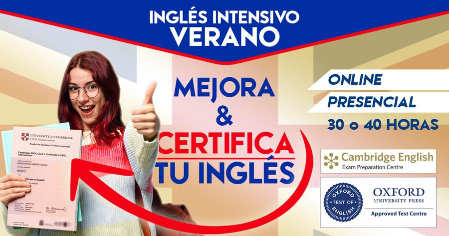 Curso Inglés Verano Online y Presencial
