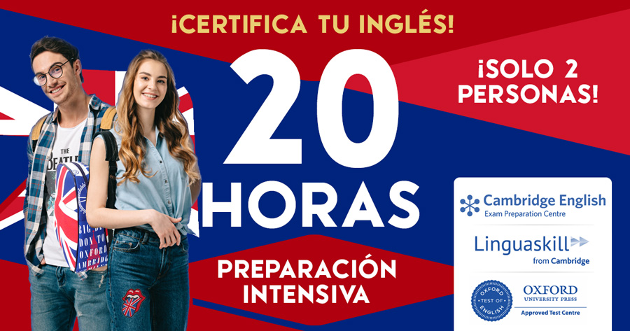 Curso Inglés Intensivo Preparación Examen Oficial en 20 horas
