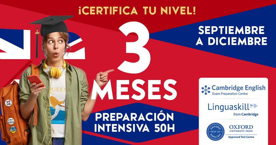 Curso Intensivo Inglés 3 meses Zaragoza